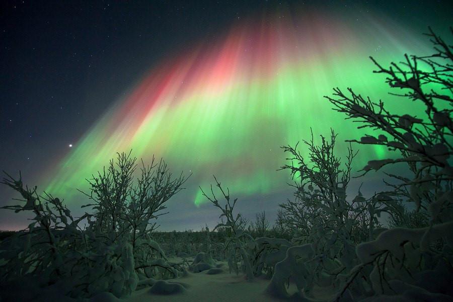 Где лучше всего любоваться полярным сиянием? 5