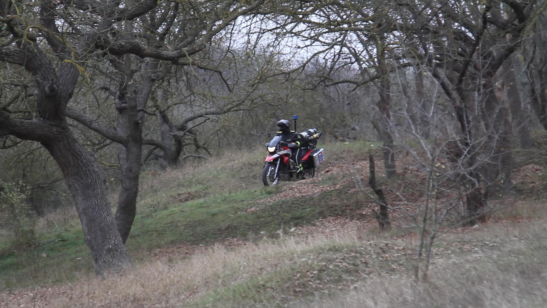 Мотопатрули МЧС берегут лес от пожара 8