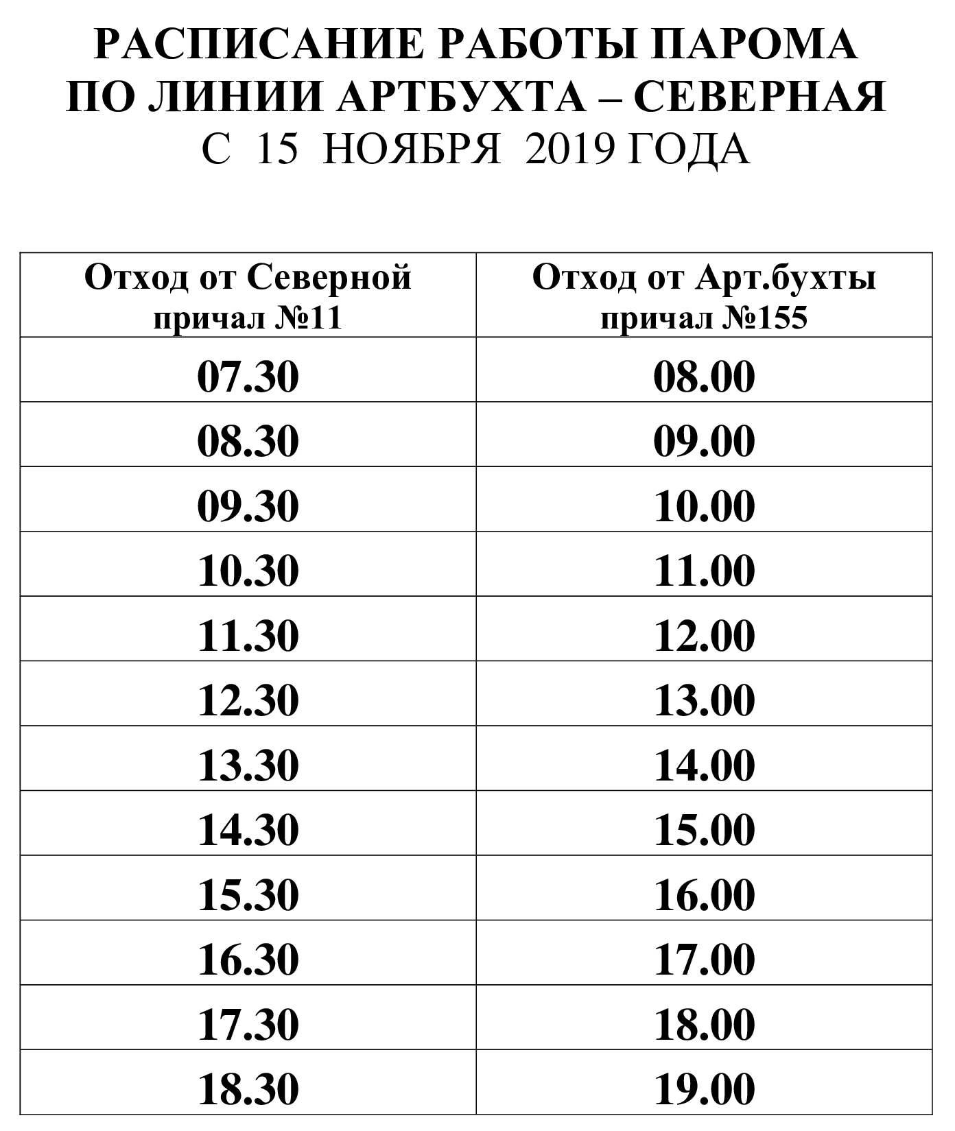 Паром в Севастополе перешел на зимнее расписание 2