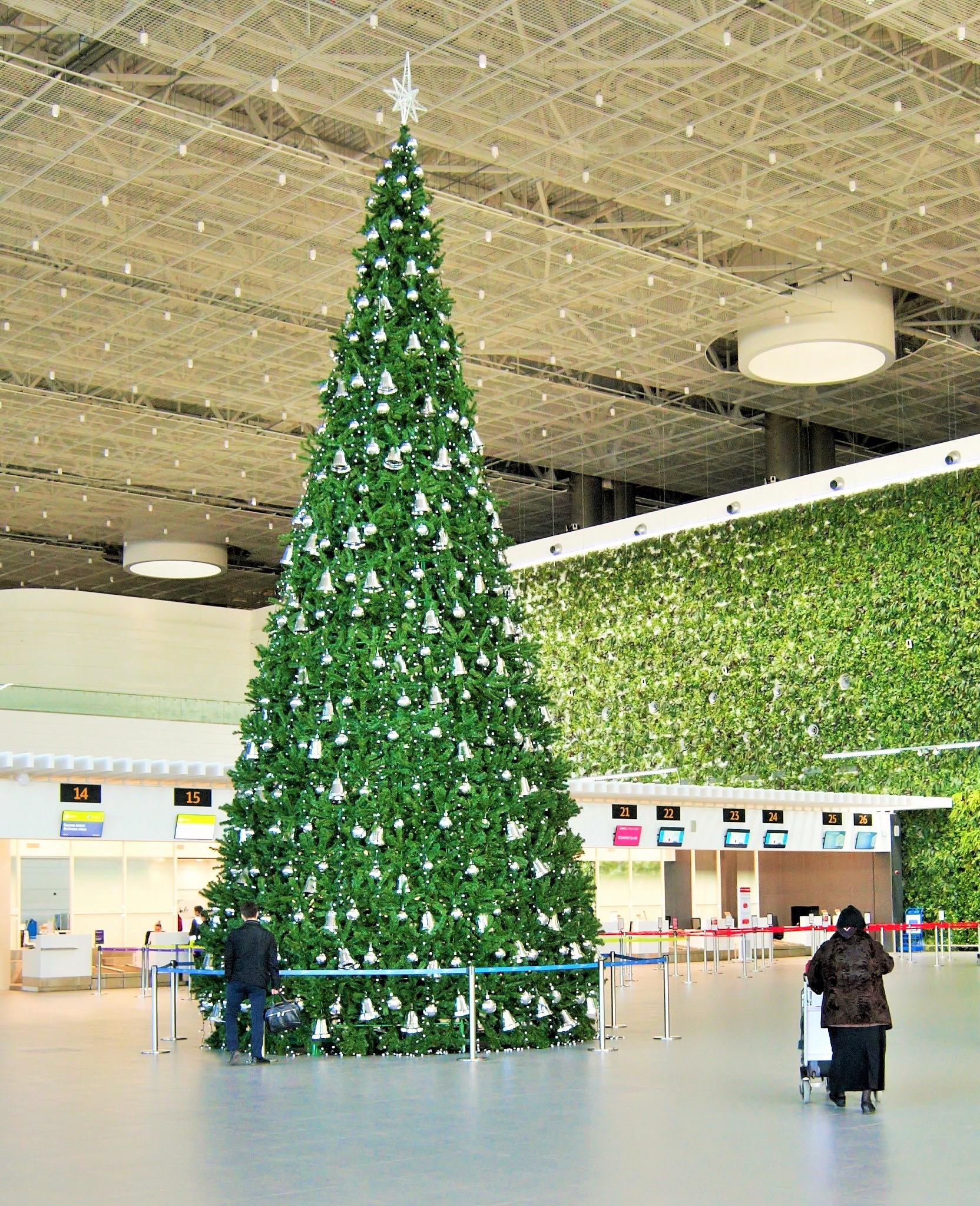В аэропорту «Симферополь» нарядили елку 1