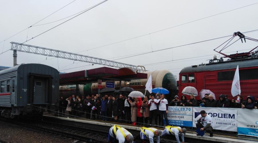 В Симферополе установили рекорд по перемещению поезда 1