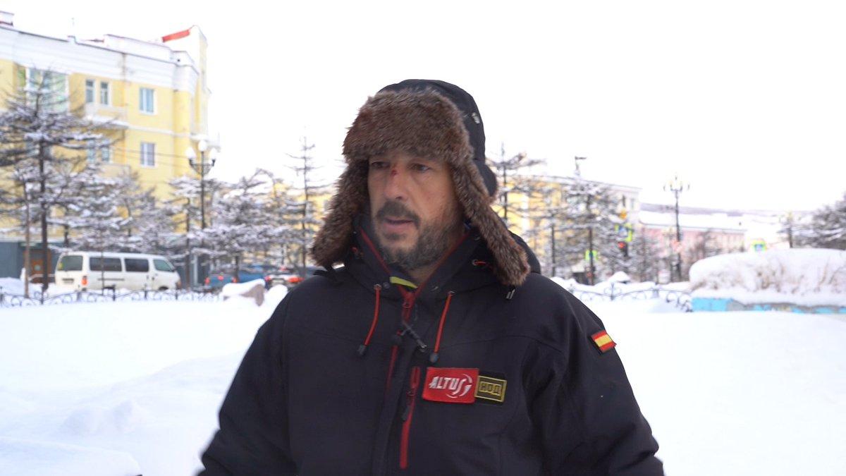 Велотурист-испанец путешествует в лютые морозы 2