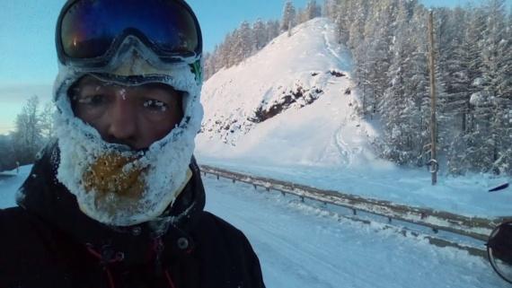 Велотурист-испанец путешествует в лютые морозы 1