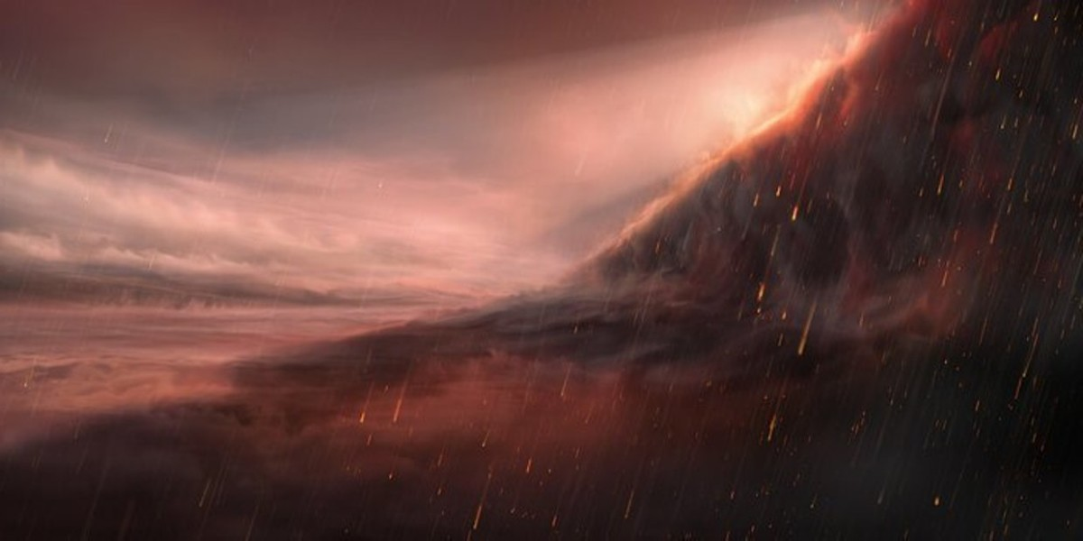 Обнаружена планета с железными осадками 7