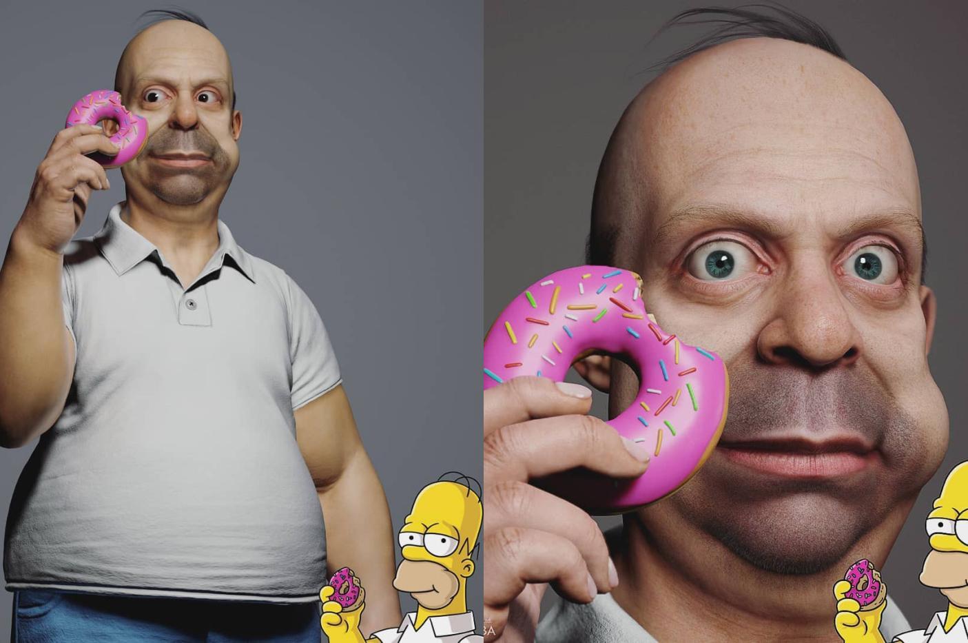 Семью Симпсонов оживили с помощью 3D-моделей 8